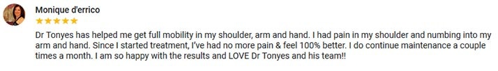 Chiropractic Middletown NY Testimonial